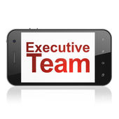 Business concept: Executive Team on smartphone — Foto Stock