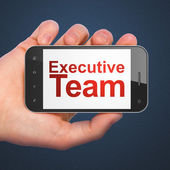 Business concept: Executive Team on smartphone — 图库照片