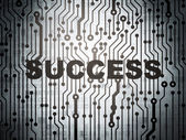 Finance concept: circuit board with Success — Stock Photo