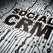 Stock Photo: Finance concept: circuit board with Social CRM