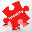 Safety concept: Identity on puzzle background — Stock Photo