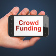 Finance concept: Crowd Funding on smartphone — Stock Photo