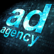 Stock Photo: Advertising concept: Ad Agency on digital background