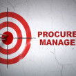 Stock Photo: Finance concept: target and Procurement Management on wall background