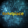 Stock Photo: Advertising concept: Marketplace on digital background