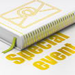 Business concept: book Email, Special Event on white background — Stock Photo