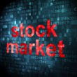 Finance concept: Stock Market on digital background — Stock Photo