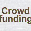 Business concept: Crowd Funding on fabric texture background — Stock Photo