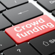 Finance concept: Crowd Funding on computer keyboard background — Stock Photo