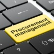 Stock Photo: Business concept: Procurement Management on computer keyboard background