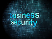 Security concept: Business Security on digital background — Stock Photo