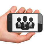 Marketing concept: Business People on smartphone — Stock Photo