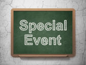 Business concept: Special Event on chalkboard background — Stock Photo