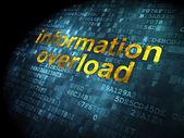 Information concept: Information Overload on digital background — Stock Photo
