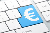 Currency concept: Euro on computer keyboard background — Stock Photo