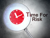 Time concept: Clock and Time For Risk with optical glass — Stock Photo