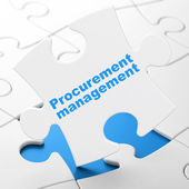 Business concept: Procurement Management on puzzle background — Stock Photo