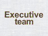 Finance concept: Executive Team on fabric texture background — Photo