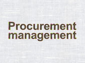 Business concept: Procurement Management on fabric texture background — Stock Photo