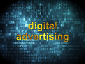 Marketing concept: Digital Advertising on digital background — Stockfoto
