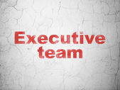 Business concept: Executive Team on wall background — Stock Photo