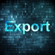 Finance concept: Export on digital background — Stock Photo
