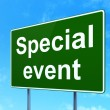 Business concept: Special Event on road sign background — Stock Photo