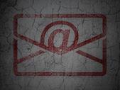 Finance concept: Email on grunge wall background — Zdjęcie stockowe