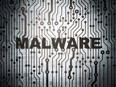 Safety concept: circuit board with Malware — Stock Photo