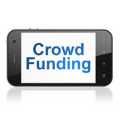 Finance concept: Crowd Funding on smartphone — Foto Stock