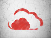 Cloud networking concept: Cloud on wall background — Stock Photo