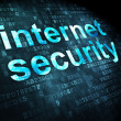 Protection concept: Internet Security on digital background — Stockfoto