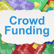 Finance concept: Crowd Funding on Credit Card background — Stock Photo