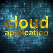 Cloud computing concept: Cloud Application on digital background — Stock Photo