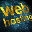 SEO web design concept: Web Hosting on digital background — Stock Photo