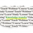 Education concept: Knowledge Transfer on Paper background — Stock Photo