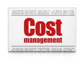 Business concept: newspaper headline Cost Management — Stock Photo