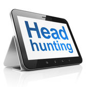 Business concept: Head Hunting on tablet pc computer — Stock Photo
