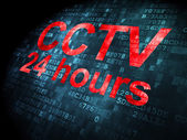 Security concept: CCTV 24 hours on digital background — Stock Photo