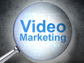 Business concept: Video Marketing with optical glass — Stock Photo