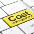 Business concept: Cost Management on computer keyboard background — Stock Photo