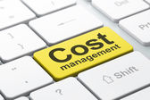 Business concept: Cost Management on computer keyboard background — Foto Stock