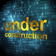 SEO web design concept: Under Construction on digital background — Foto Stock