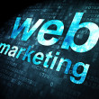 SEO web design concept: Web Marketing on digital background — Foto Stock