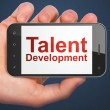Education concept: Talent Development on smartphone — Stock Photo