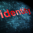 Privacy concept: Identity on digital background — Stock Photo