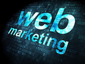 SEO web design concept: Web Marketing on digital background — Foto de Stock