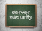 Security concept: Server Security on chalkboard background — Stock Photo