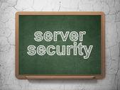 концепция безопасности: безопасность сервера на фоне доске — Стоковое фото