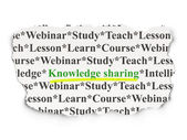 Education concept: Knowledge Sharing on Paper background — Stock Photo